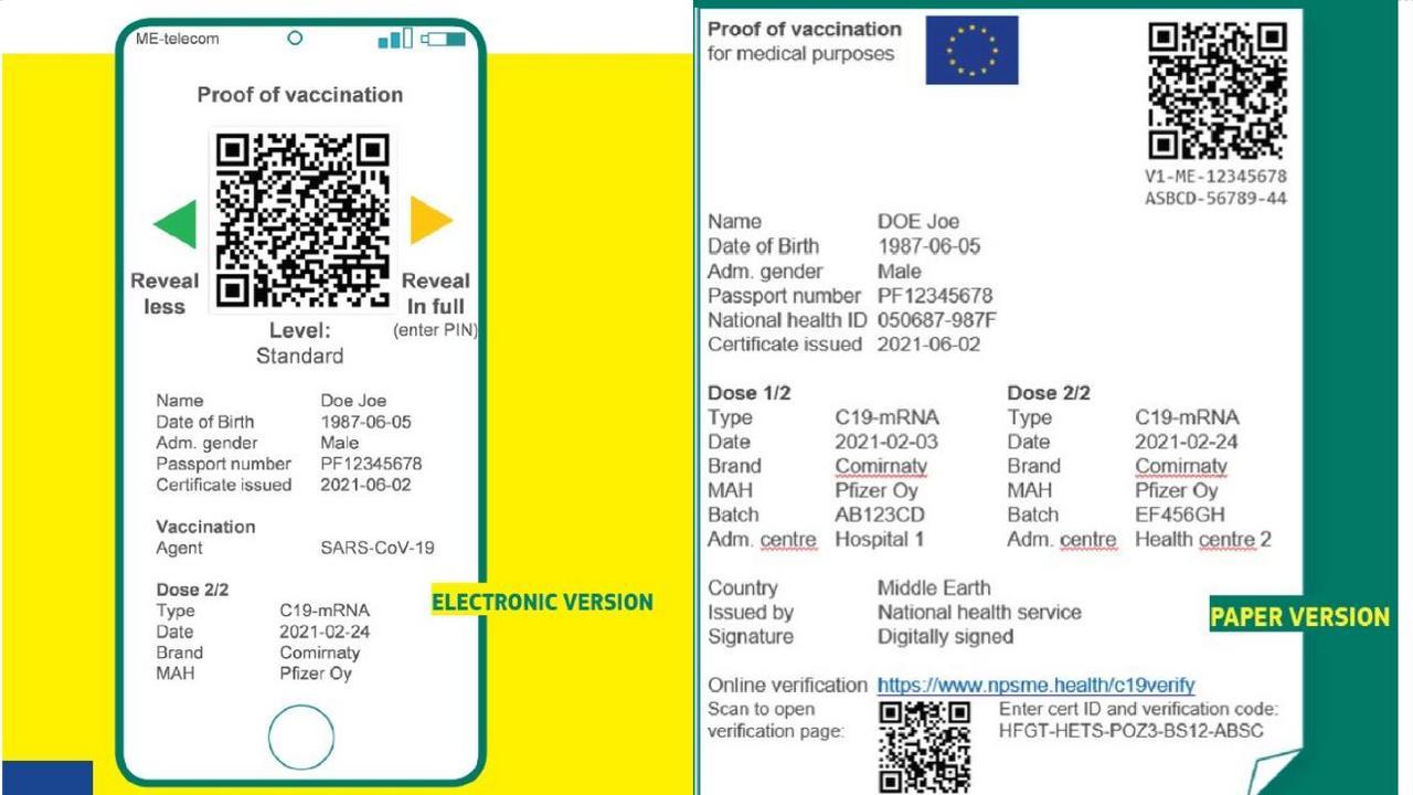 """З 15 червня в Євросоюзі запроваджується """"паспорт вакцинації"""""""